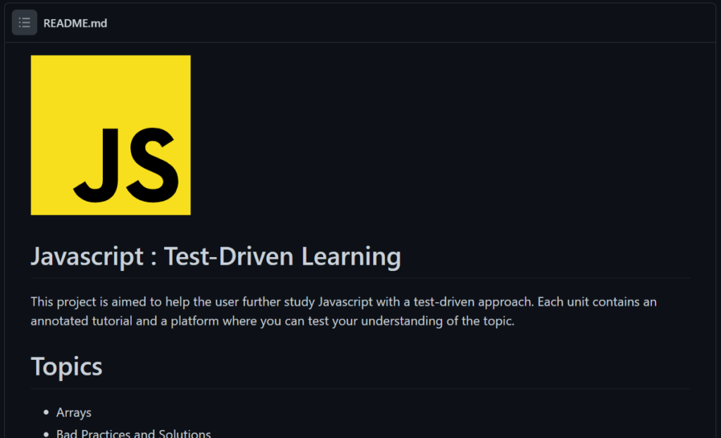 js-test-driven-learning